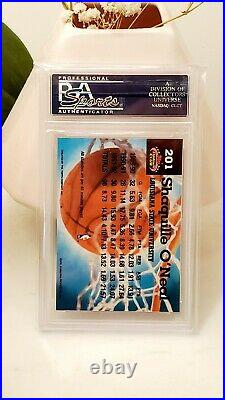 1992-93 Stadium Club Shaquille O'Neal #201 Rookie RC Members Only Choice PSA 9