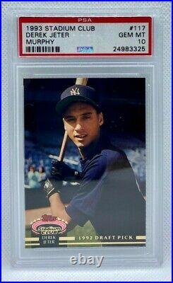 1993 Derek Jeter Stadium Club Murphy PSA 10 Gem Mint Rookie Card HOF Yankees