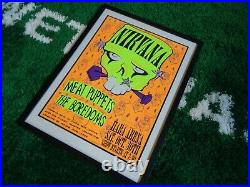 1993 Nirvana Meat Puppets Concert Poster Hara Arena Signed #372/400 Bolton ROCK