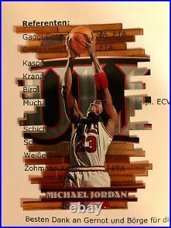 1997 Topps Stadium Club Triumvirate Illuminator Michael Jordan T1B