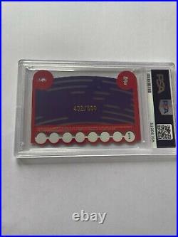 2000-01 Topps Stadium Club Beam Team Vince Carter BT4 PSA MINT 9 Die Cut 432/500