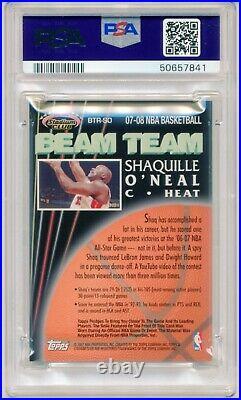2007-08 Stadium Club Beam Team Shaquille O'Neal RELICS JERSEY #BTRSO MINT PSA 9