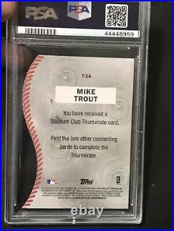 2013 Topps Archives Mike Trout 1998 Stadium Club Triumvirate PSA 9 Mint POP 4