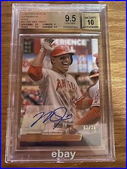 2014 Topps Stadium Club Mike Trout Gold Auto Autograph BGS 9.5/10 POP 1/1 READ