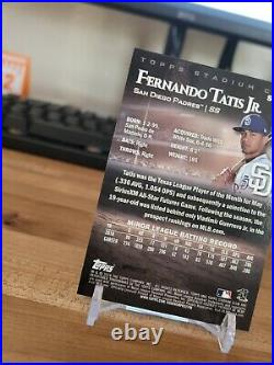 2019 Topps Stadium Club Chrome Refractor #scc-80 fernando tatis jr Rookie RC (B)