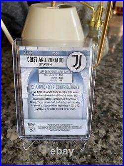 2020-21 Stadium Club Chrome Cristiano Ronaldo SSP GOLD REFRACTOR #/50 Juventus