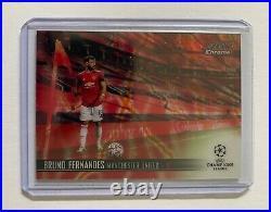 2020-21 Stadium Club Chrome Uefa Bruno Fernandes 4/4 Rare! Red Electric #80