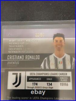2020-21 Topps Stadium Club Chrome UEFA CRISTIANO RONALDO JUVENTUS #22/50 GOLD