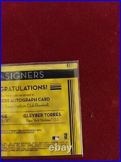 2020 Topps Stadium Club Co-signers Aaron Judge Gleyber Torres #2 Of 10 Cos-at