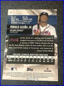2021 Ronald Acuna Jr. Topps Stadium Club Ssp Image Variation #57 Hot New! Sharp