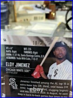 2021 Stadium Club Chrome Eloy Jiminez #/25 Gold Foil Auto Chicago White Sox