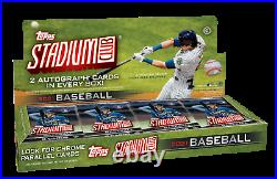 2021 Topps Stadium Club Baseball Factory Sealed Hobby Box (2) AUTOS & FREE SHIP