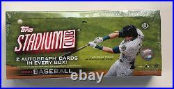 2021 Topps Stadium Club Baseball Factory Sealed Hobby Box 2 Auto's per box