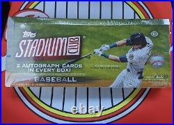 2021 Topps Stadium Club Baseball Factory Sealed Hobby Box 2 Autographs