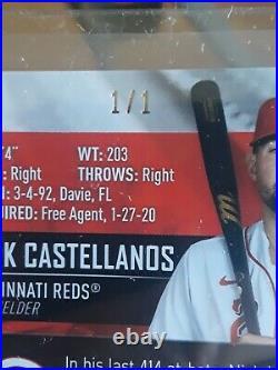 2021 Topps Stadium Club Baseball Nick Castellanos 1/1 Gold