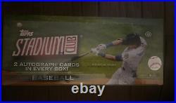 2021 Topps Stadium Club Baseball Sealed Hobby Box 2 Auto 16 Packs with8 Cards