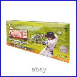 2021 Topps Stadium Club Baseball Sealed Hobby Box 2 autographs per box
