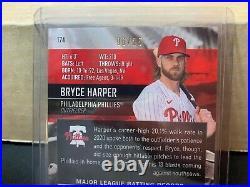 2021 Topps Stadium Club Bryce Harper Chrome Refractor Auto 06/25 Phillies