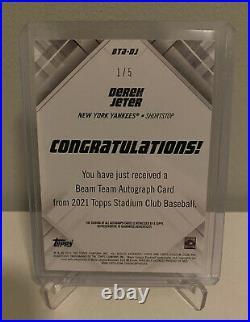 2021 Topps Stadium Club Derek Jeter Beam Team Autograph #1/5