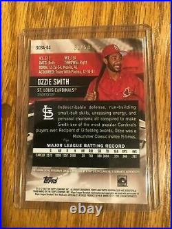 2021 Topps Stadium Club Ozzie Smith Cardinals Red Foil Auto On Card 31/50
