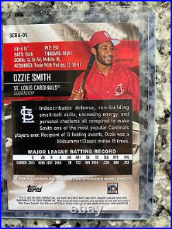 2021 Topps Stadium Club Ozzie Smith St Louis Cardinals Red Auto On Card / 50