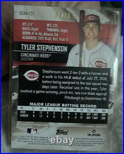 2021 Topps Stadium Club Tyler Stephenson Auto Rainbow Foil 1/10 RC Reds