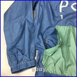 $298 Polo Ralph Lauren Polo 1992 Laguna 2 Stadium Windbreaker Jacket, Size XXL