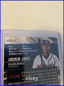 Andrew Jones 2021 Stadium Club ON CARD autograph 3/5 SUPER RARE