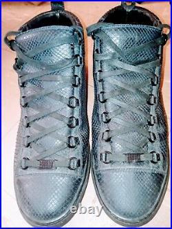 Balenciaga Rare Balenciaga Arena Black Python Hi-Top Sneakers #358031