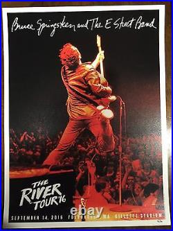 Bruce Springsteen Poster Gillette Stadium Foxboro, MA 9/14/16 Limited Edition
