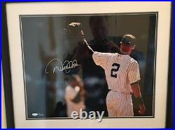 Derek Jeter Limited Edition Signed Photo Iconic Yankee Stadium Roll Call
