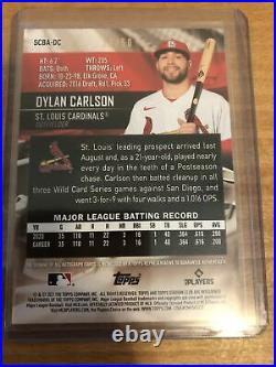 Dylan Carlson 2021 Topps Stadium Club Red /50 Auto RC CARDINALS Autograph Rookie