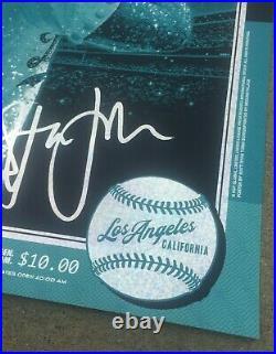 ELTON JOHN Dodger Stadium Los Angeles 1975 Shining Sequins Foil Variant Poster