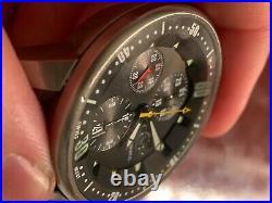 Gevril 4004 Stadium Series Mens SS Chronograph Valjoux 7750 Auto $3795 Retail