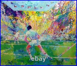 LeRoy Neiman Stadium Tennis Hand Signed Serigraph Limited Edition Art OBO