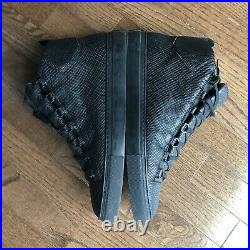Mens Balenciaga Arena Black Python Leather High Size 43 US 10 Designer Sneaker