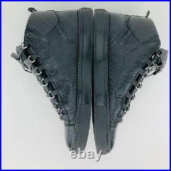 Mens Balenciaga Arena High Top Sneaker Dark Gray EUR 43 US Size 10 FREE SHIPPING