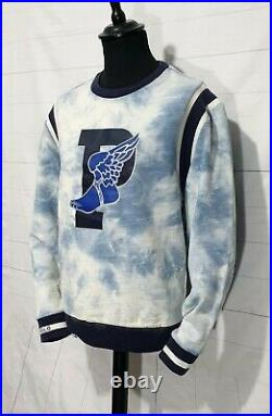 Mens Polo Ralph Lauren Limited Edition indigo P Wing stadium Sweater Jumper M