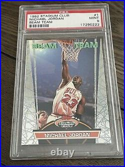Michael Jordan 1992 Stadium Club Beam Team PSA 9 Mint Condition
