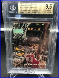 Michael Jordan 1st Day Issue Stadium Club BGS 9.5 #181 Chicago Bulls Goat MJ