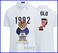 NWT Polo Ralph Lauren 1992 Stadium Bear shirt rare Limited Edition p-wing sz L