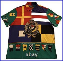 NWT Polo Ralph Lauren CP-93 Crest Shirt XL Regatta Stadium Sportsman 1992 1993