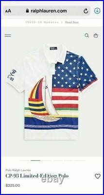 NWT Polo Ralph Lauren CP-93 Regatta Capsule Shirt Sz Large Casino Stadium