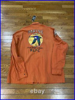 NWT Ralph Lauren Sportsman MAINE Button Down PWING Bear Stadium XXL