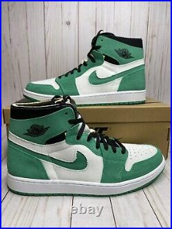 Nike Air Jordan 1 High Zoom CMFT Stadium Green White Mens Size 13 CT0978 300