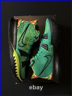 Nike Kyrie 7 Weatherman Stadium Green Black Volt Orange CQ9326-300 Men's 11