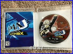 Persona 4 Arena Ultimax Limited Edition PS3 COMPLETE (Teddy & Tarot Cards)