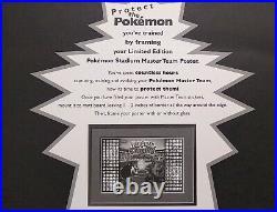Pokemon Stadium Limited Edition Blockbuster 2000 Master Team Poster Rare Vintage