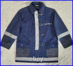 Polo Ralph Lauren CP-93 Stadium Reflective Fireman Clasp Jacket Coat rare 92 M