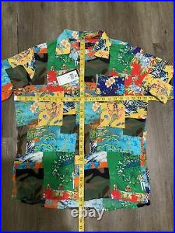 Polo Ralph Lauren Camo Hawaiian Stadium Patchwork Camp Shirt Men's Sz M